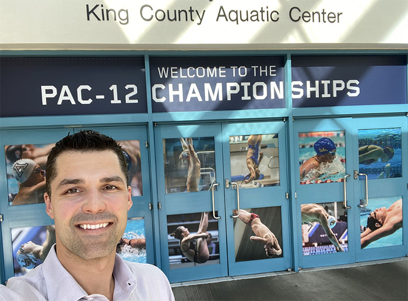 Dr. Garcia covers the Pac-12 Swim Championships